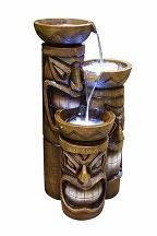 Tiki Fountain With Lights