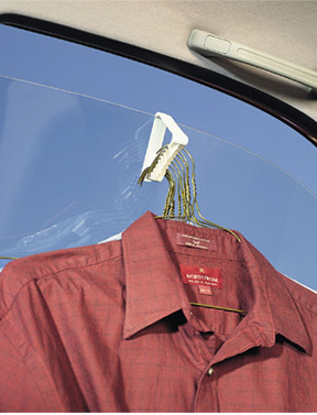 Hang clothes from your window.
