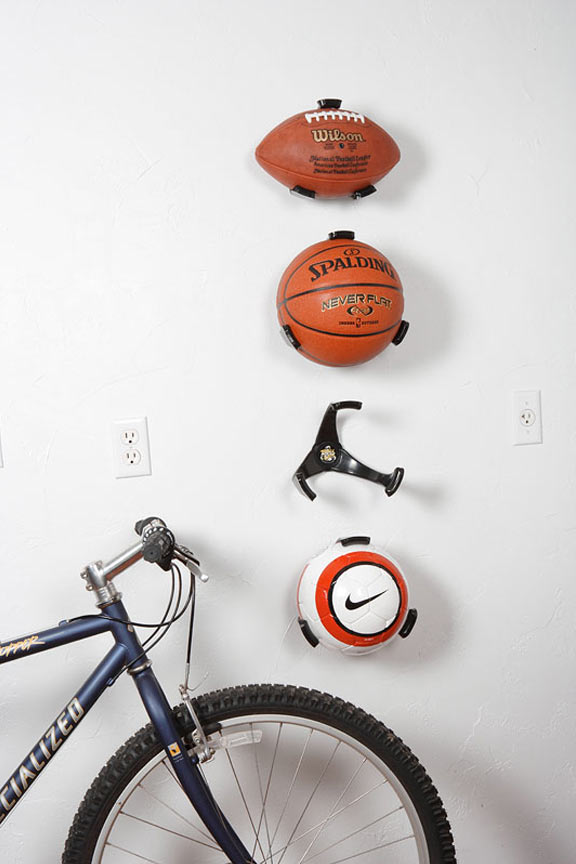 Eliminate clutter in your garage and keep balls off the ground when not in use.