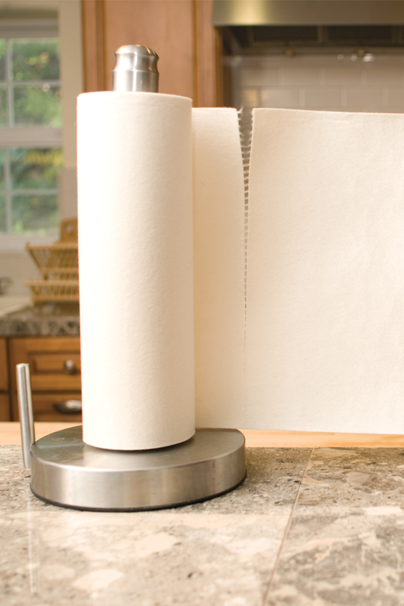 Perforated roll for easy dispensing