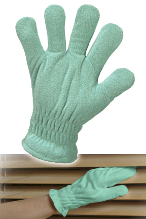 Microfiber cleaning glove.