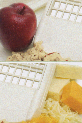 Grate almost any type of food with this dual use grater.