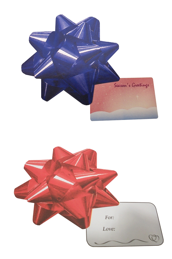 Gift tag bow stickers 12 30 or 50 pack large bows look like the real thing and have gift tags attached negle Images