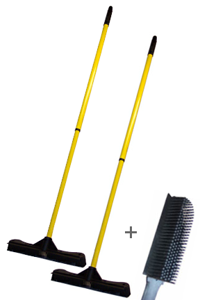 13.5 Inch Broom and Brush Combo
