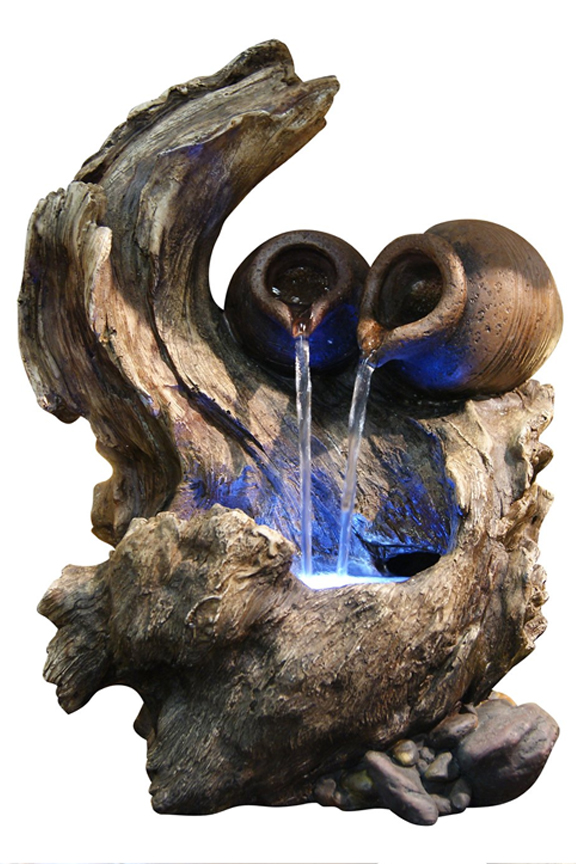 WIN634 Cascading Pots Tree Branch Fountain
