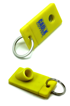 The Perfect Caulk Cutter - A Keychain Tool To Make Using Caulk Easier.