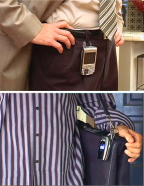 Quickly attach almost any device to your belt loop or briefcase.