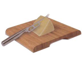 Bamboo Cutting Board and Cheese Knife Combo
