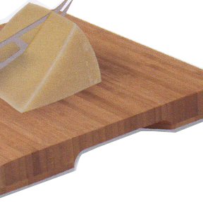 High quality board made from renewable bamboo.