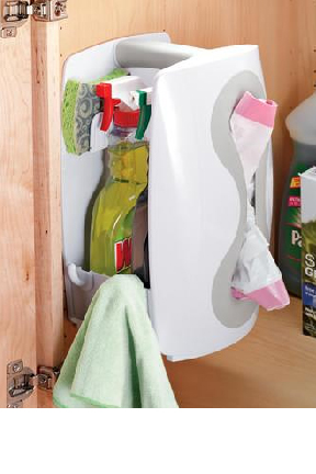 Mount inside a cabinet or closet to keep things close at hand.