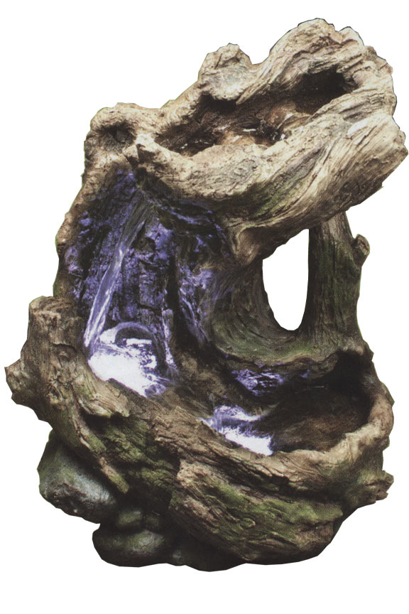 WIN454S Curved Log Rainforest Fountain