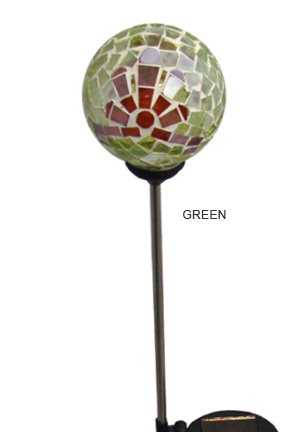 Green color changing garden stake.