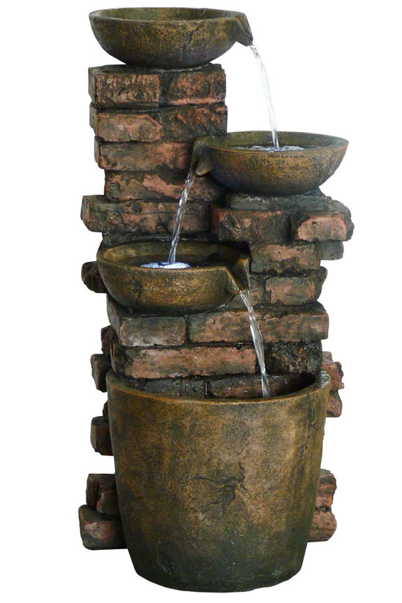 GIL826 Three Tier lighted Fountain