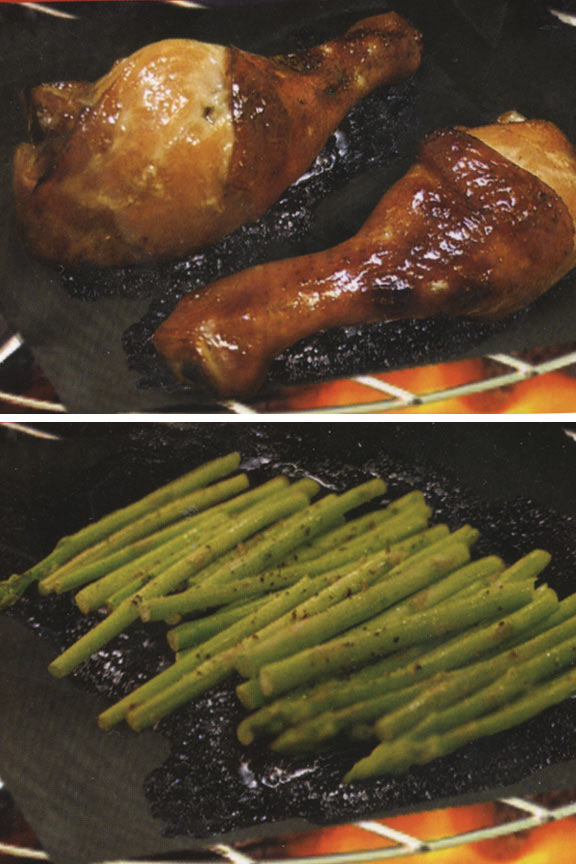 Cook veggies right on the grill and lock in marinade flavors.