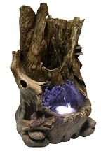 Hollow Log Table Fountain