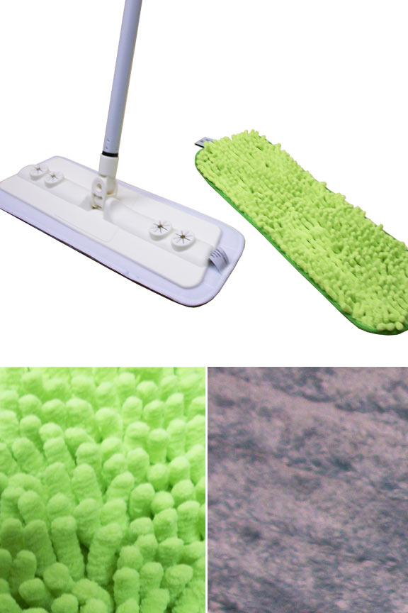 Complete with two pads for cleaning any floor type.