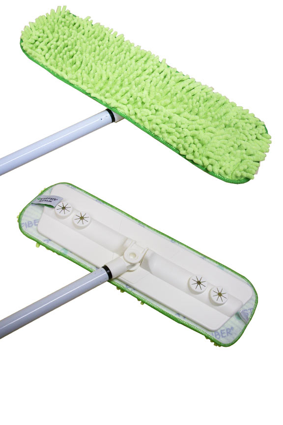 Green chenille pad is a StarFiber Heavy Duty Pad. Use wet or dry.