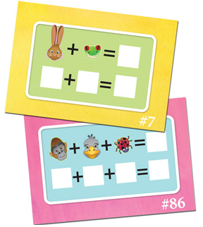 Easy to follow game boards help children learn.
