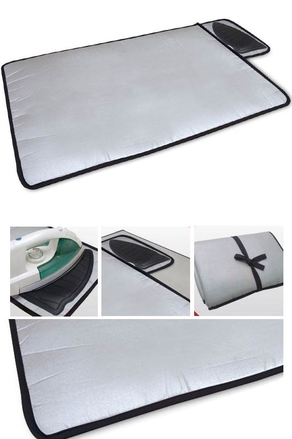 Portable Ironing Mat - Foldable with built in iron rest