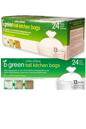 Biodegradable Tall Kitchen Garbage Bags (13 gal.)