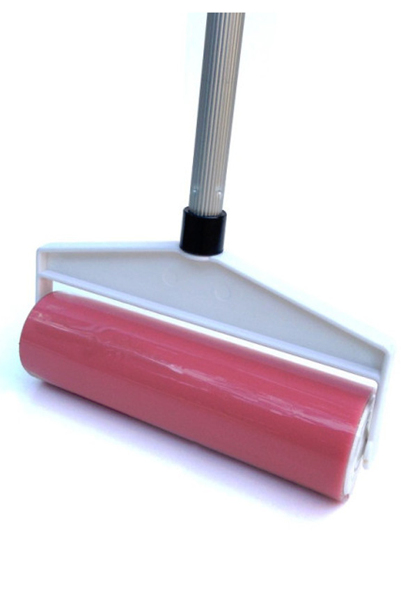 Large sticky roller with extension pole.