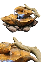 Lighted Leaf Tabletop Fountain