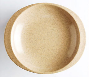 Natural fiber plate for children.