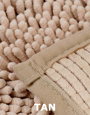 Tan version microfiber chenille.