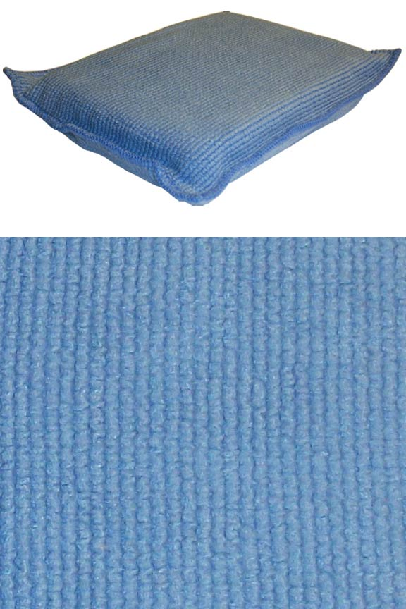 Versatile surface can be used wet or dry. Thick sponge offers extra absorbency.