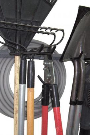 Hang multiple tools on a single hook for increased storage.
