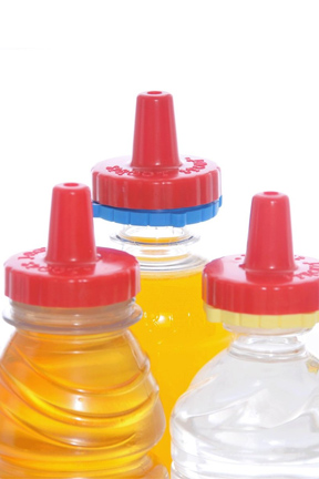 Included adapters allow the lids to fit almost any bottle.