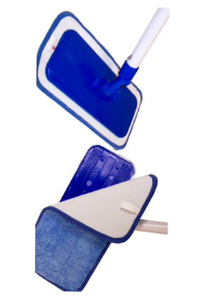 High quality pad goes on easy and stays secure while mopping.