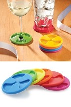 Silicone Grip Coasters (Set of 6)