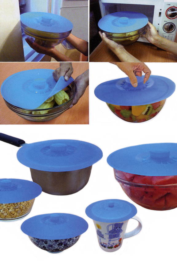 Just press to seal multiple sizes and shapes of containers.