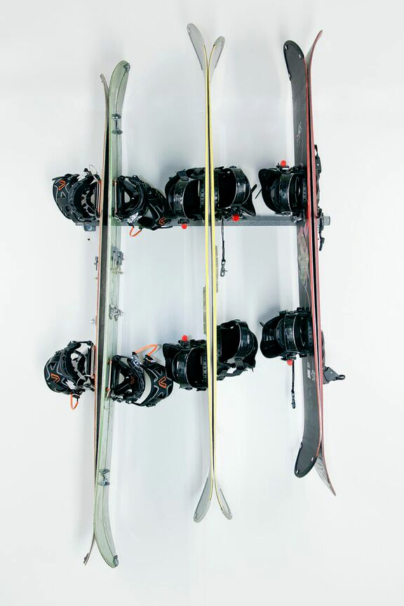 Safely store up to 6 boards in one compact space.