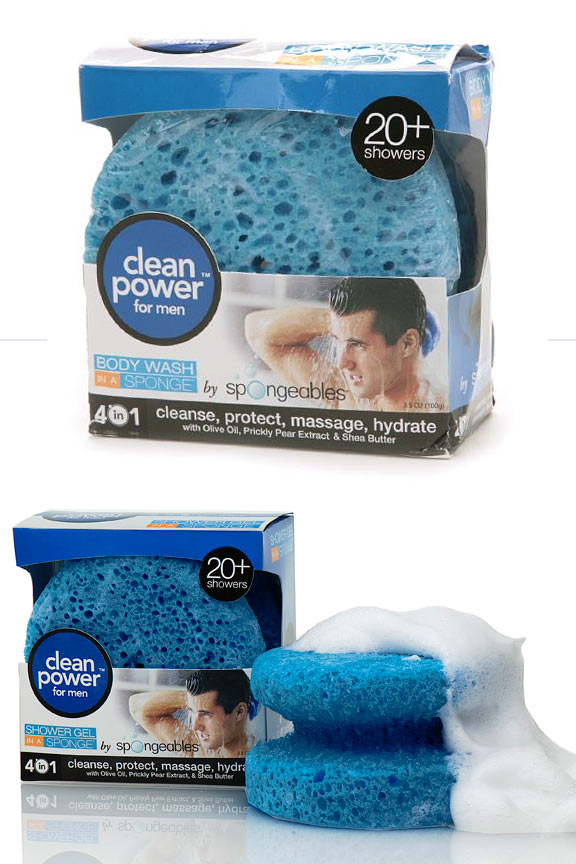 Spongeables 20+ Body Wash In A Sponge For Men