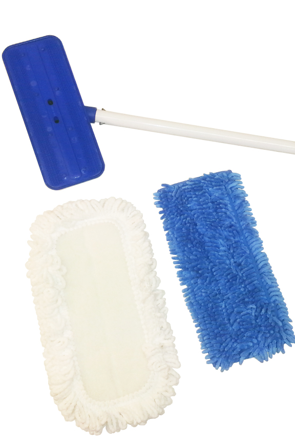 Includes two different pads and a commercial grade mop.