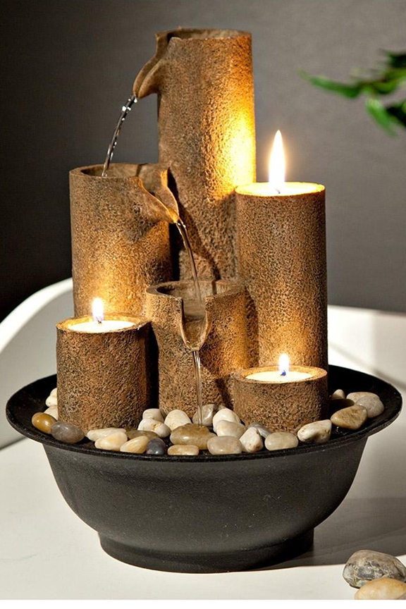 WCT202 Three Candles Tabletop Fountain