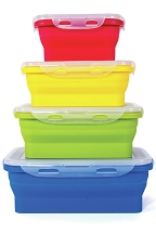 Collapsible Silicone Storage Set