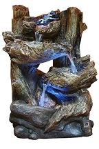 Tiered Logs Fountain