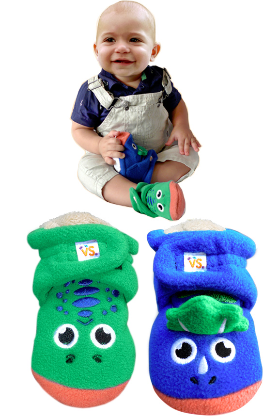 Dinosaur Infant Booties