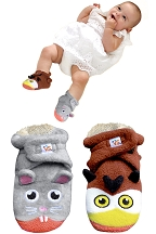 Owl Vs. Mouse Infant Booties
