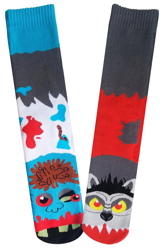 Zombie Vs Warewolf Socks For Men