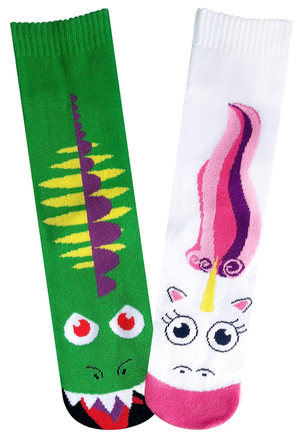 Dragon Vs Unicorn Socks For Women