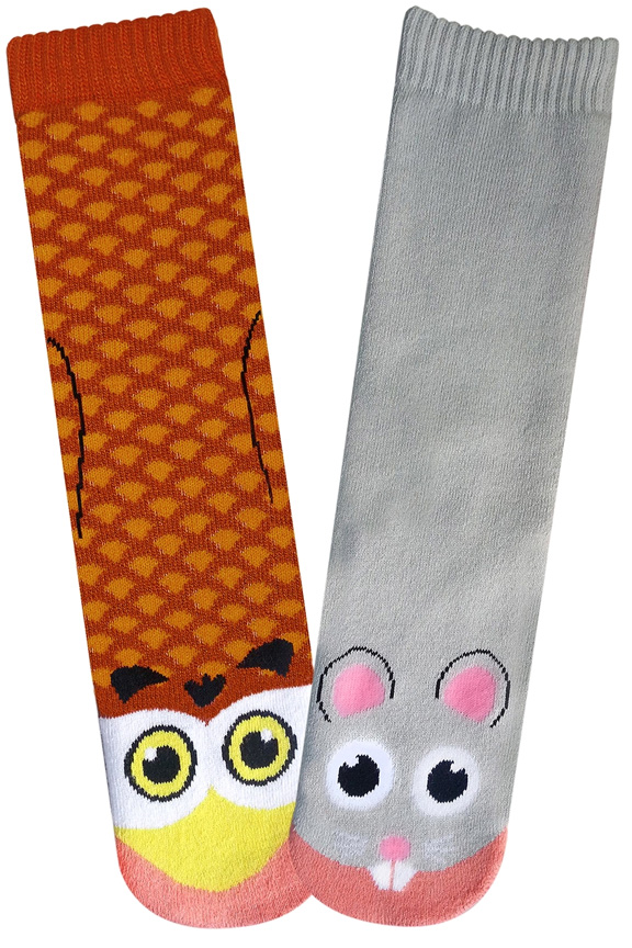 Owl Vs Mouse Socks For Women