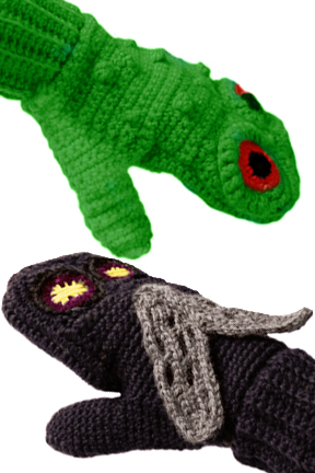 Predator Vs Prey Mittens for Adults - Frog vs. Fly