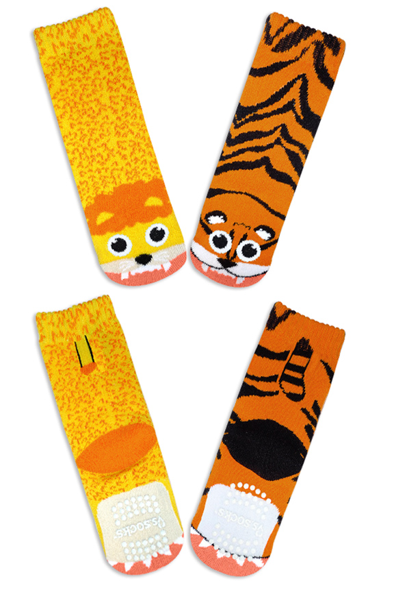 Product Detail. Lion and Tiger Socks.