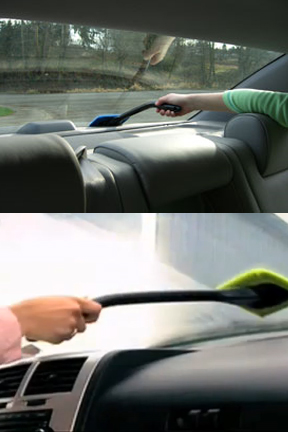 Long handle and low profile. Clean any windshield easily.