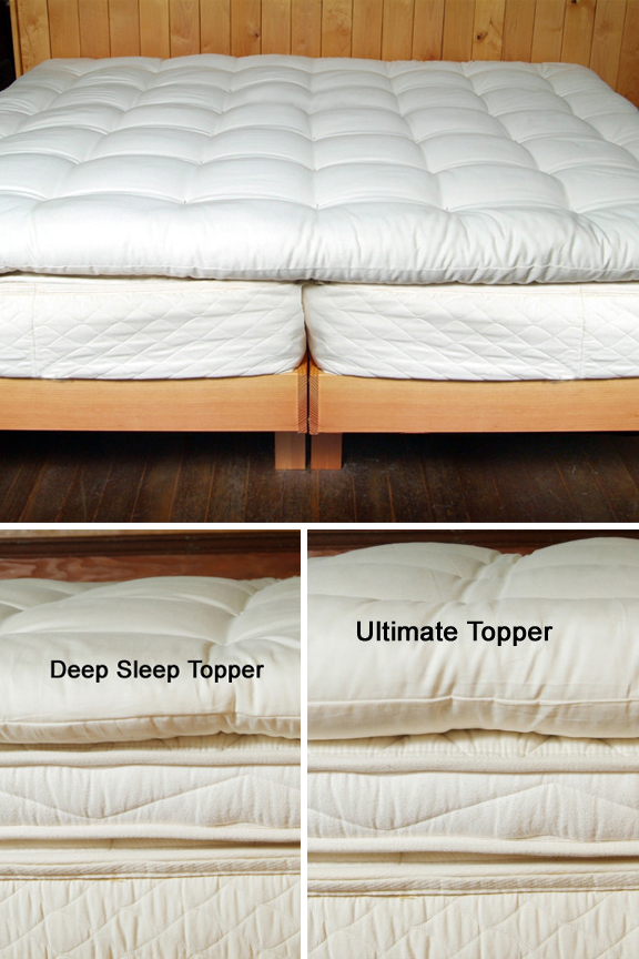 Quilted Wool Matress Topper With Organic Cotton Cover